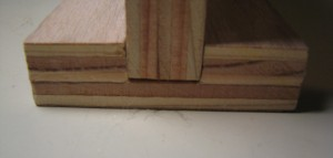 Wooden I-Beam close-up