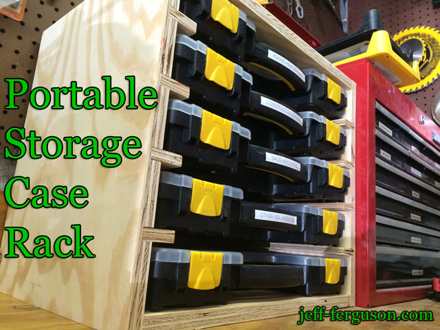 Portable Storage Case Rack