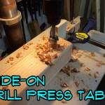 Slide-On Drill Press Table